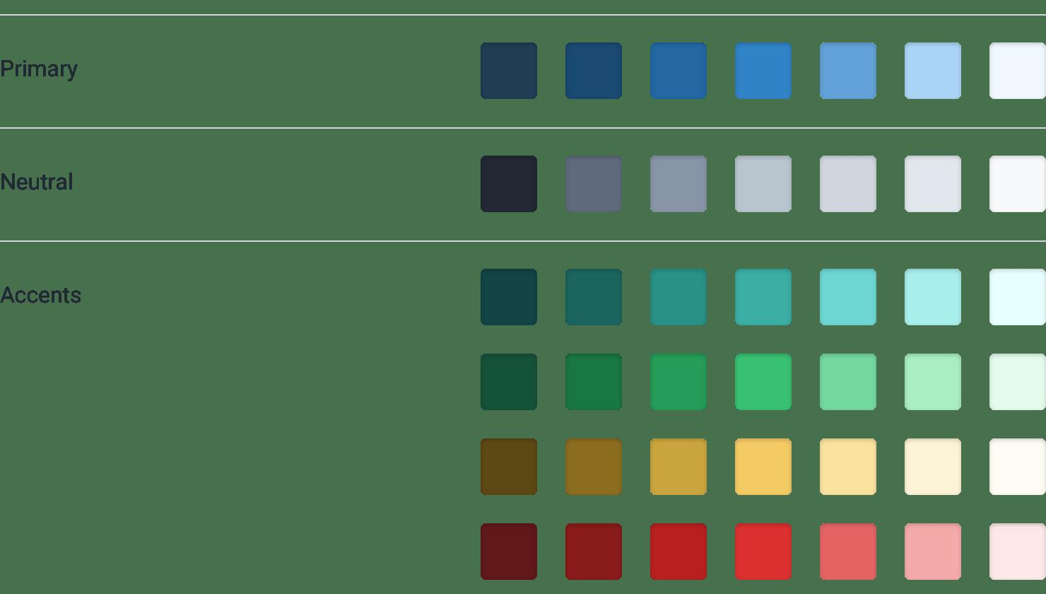 Refactoring UI color scheme - Wireframe Kit Palette