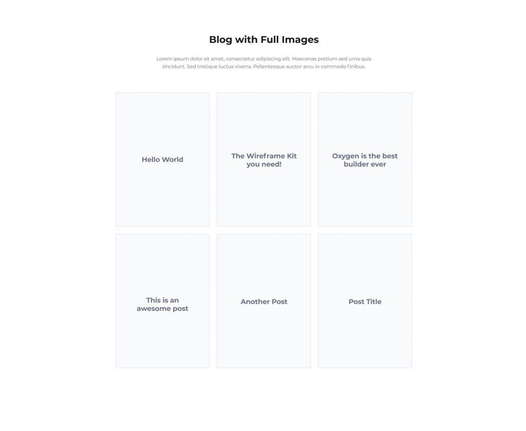 OxyWireframe Figma Kit Frame 5